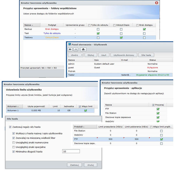 DSM USer Configuration